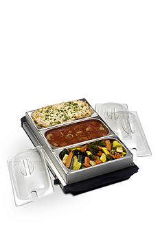 Nostalgia Electrics Station Buffet Server with Warming Tray BCD992