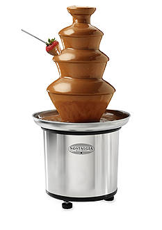Nostalgia Electrics 3-Tier Stainless Steel Chocolate Fondue Fountain CFF986