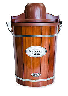 Nostalgia Electrics Vintage Collection Old Fashioned 6-Qt. Wood Bucket Ice Cream Maker ICMP600WD - Online Only