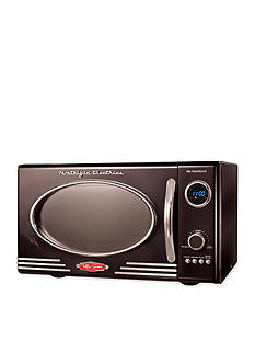 Nostalgia Electrics Retro Series 0.9-Cubic Foot Microwave Oven RMO400BLK - Online Only