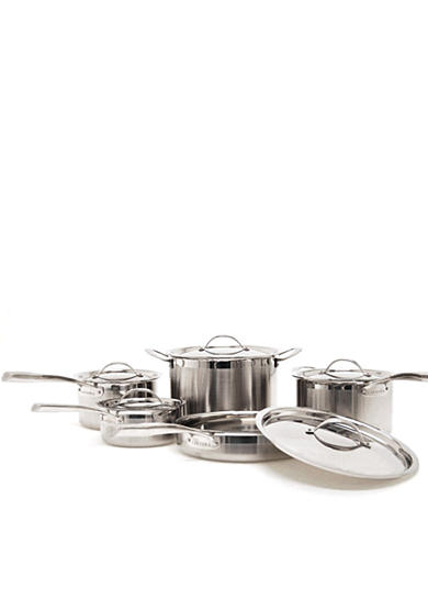 Cat Cora Tri-Ply Stainless Steel 10-Piece Cookware Set - Online Only