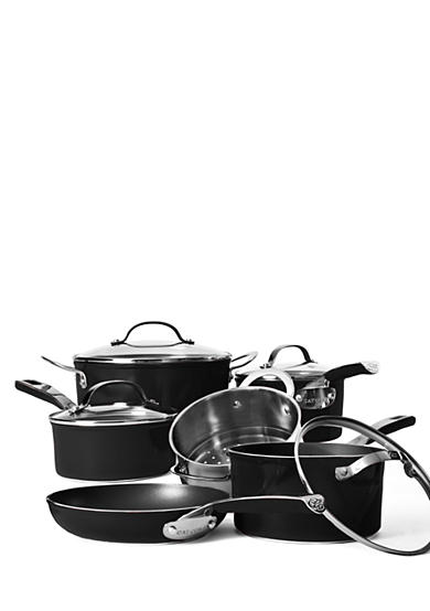 Cat Cora Black Nonstick 10-Piece Cookware Set