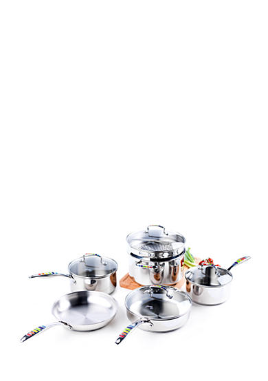 Fiesta® Masquerade Stainless Steel 10-Piece Cookware Set