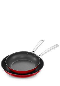 KitchenAid 10-in. & 12-in. Stainless Steel Nonstick Skillets Twin Pack - KC2S10NTPC