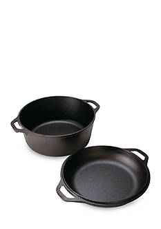 Lodge 5-qt. Cast Iron Double Dutch Oven