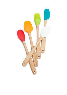 Cooks Tools™ 5-Piece Mini Silicone & Bamboo Utensil Set