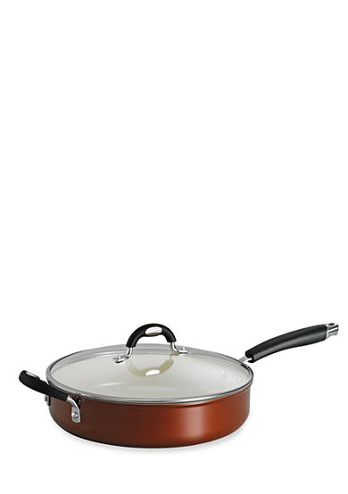 Tramontina Style 11-in. Metallic Copper Ceramica 01 Covered Deep Skillet - Online Only<br>