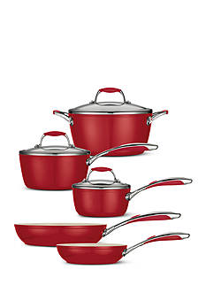 Tramontina Gourmet 8-Piece Deluxe Ceramica 01 Metallic Red Cookware Set - Online Only