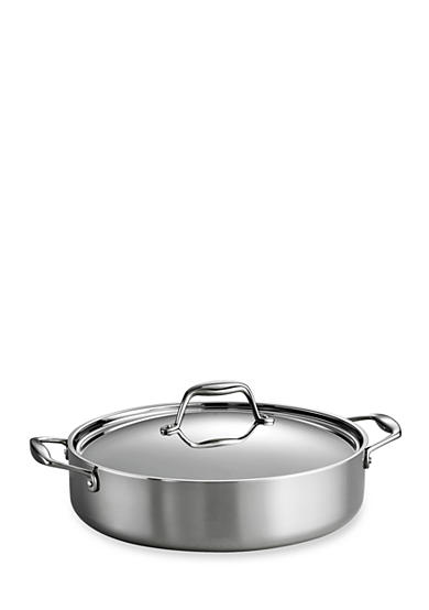 Tramontina Gourmet Tri-Ply Clad 18/10 Stainless Steel Induction-Ready 5-qt. Covered Braiser - Online Only