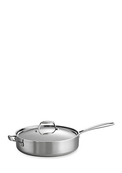 Tramontina Gourmet Tri-Ply Clad 18/10 Stainless Steel Induction-Ready 5-qt. Covered Deep Saute Pan - Online Only