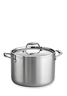 Tramontina Gourmet Tri-Ply Clad 18/10 Stainless Steel Induction-Ready 8-qt. Covered Stock Pot - Online Only