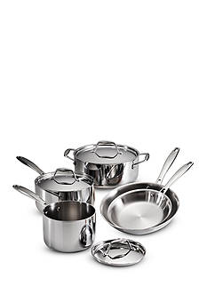 Tramontina Gourmet Tri-Ply Clad 18/10 Stainless Steel Induction-Ready 8-Piece Cookware Set - Online Only