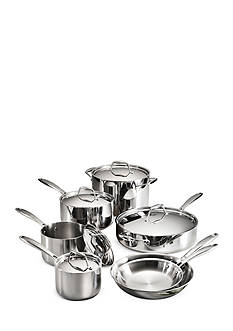 Tramontina Gourmet Tri-Ply Clad 18/10 Stainless Steel Induction-Ready 12-Piece Cookware Set - Online Only