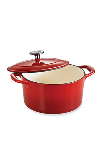 Tramontina Gourmet 3 5 Qt Red Enameled Cast Iron Covered