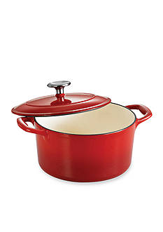 Tramontina Gourmet 3.5-qt. Red Enameled Cast Iron Covered Round Dutch Oven - Online Only