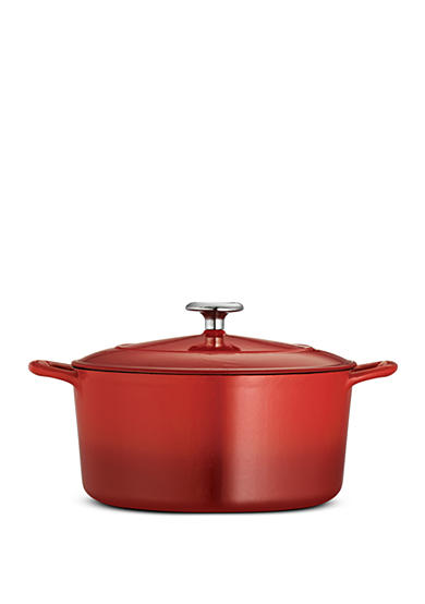 Tramontina Gourmet 5.5-qt. Red Enameled Cast Iron Covered Oval Dutch Oven - Online Only