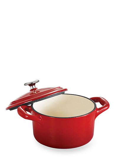 Tramontina Gourmet 10.5-oz. Red Enameled Cast Iron Cocotte - Online Only