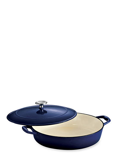 Tramontina Gourmet 4-qt. Cobalt Enameled Cast Iron Covered Braiser - Online Only