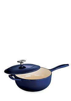 Tramontina Gourmet 3-qt. Cobalt Enameled Cast Iron Covered Saucepan