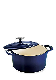 Tramontina Gourmet 3.5-qt. Cobalt Enameled Cast Iron Covered Round Dutch Oven - Online Only