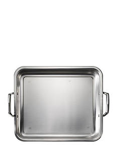 Tramontina Gourmet Prima 18/10 Stainless Steel 15-in. Roasting Pan - Includes Basting Grill - Online Only