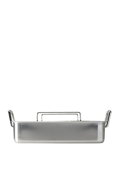 Tramontina Gourmet Prima 18/10 Stainless Steel 16.5-in. Deep Roasting Pan - Includes Basting Grill and V-Rack - Online Only