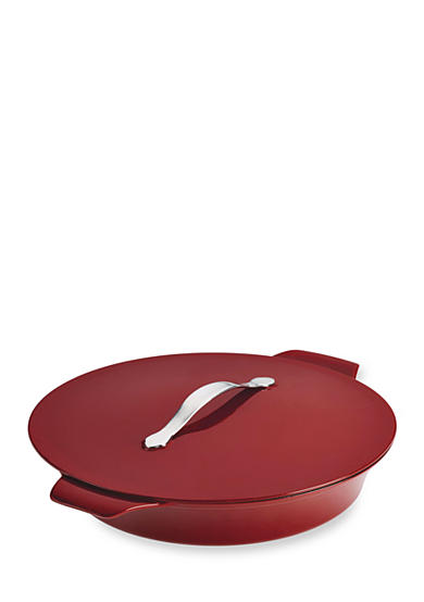 Anolon Vesta Cast Iron Cookware 5-qt. Round Covered Braiser, Paprika Red - Online Only<br>
