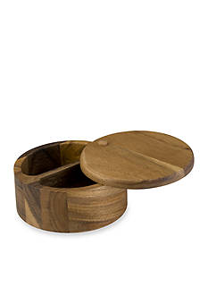 Paula Deen Signature Pantryware Wooden 2-Compartment Round Salt Box
