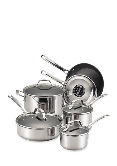 Circulon Genesis Stainless Steel Nonstick 10-Piece Cookware Set - Online Only<br>