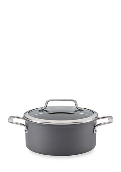 Anolon Authority Hard-Anodized Nonstick 4-qt. Covered Saucepot, Gray - Online Only