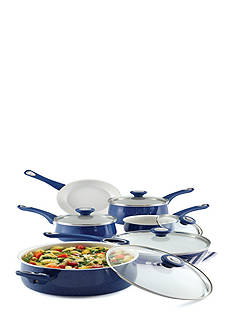 Farberware New Traditions Speckled Aluminum 14-Piece Set, Blue