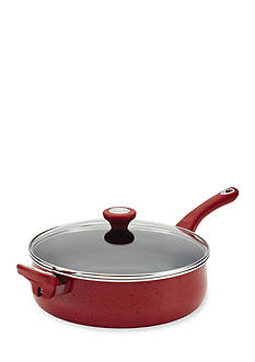 Farberware New Traditions Speckled Aluminum 5-Qt. Jumbo Cooker with Helper Handle, Red