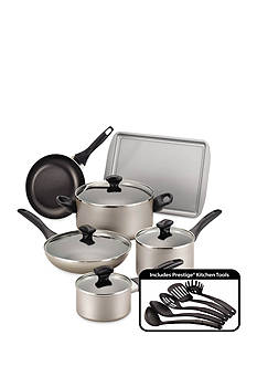 Farberware Dishwasher Safe Nonstick 15-Piece Cookware Set - Champagne