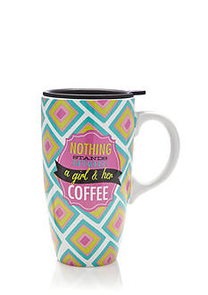 Home Accents® Girl & Her Coffee Latte Mug with Gift Box