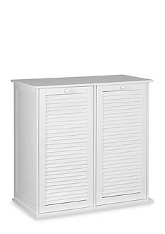 Household Essentials Tilt-out Cabinet Laundry Sorter with Shutter Front
