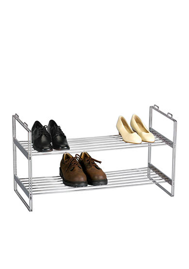 Household Essentials® 2 Tier Shoe Rack Chrome  Online Only