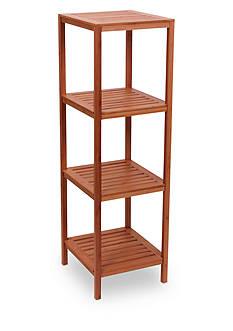 Household Essentials Bamboo 4-Shelf Cube Tower
