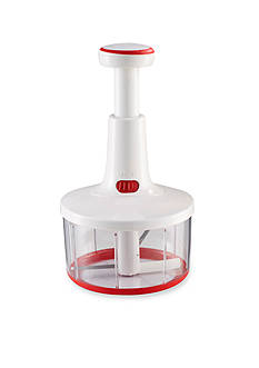 Leifheit Twist Cut Manual Food Processor and Whip, white and red