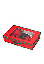 Holiday China Tabletop Set Storage Chest - 4-in. x 19-in. x 15-in.