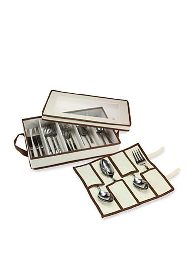 Household Essentials® Flatware Storage Chest with separate Serving Utensil Storage Pouch - Online Only