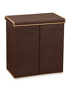 Household Essentials Double Laundry Sorter, Coffee Linen - Online Only