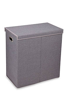 Household Essentials Collapsible Double Laundry Sorter With Lid
