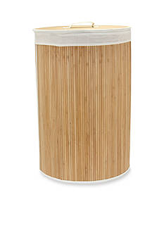 Household Essentials® Round Bamboo Hamper with Cedar Bottom - Online Only