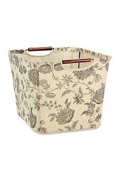 Household Essentials® Medium Tapered Storage Bin with Wood Handles