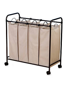 Household Essentials Rolling Quad Laundry Sorter, Antique bronze - Online Only
