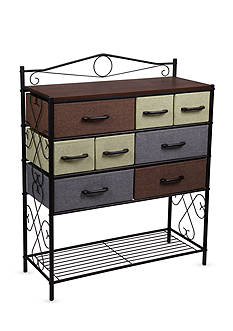 Household Essentials 8-Drawer Wide Victorian Chest