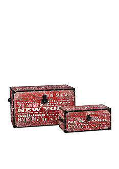 Household Essentials New York Decorative Trunk Set