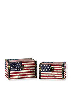 Household Essentials American Flag Storage Box Set
