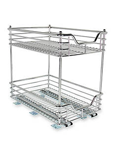 Glidez™ 11.5-in. Two Tier Sliding Organizer Chrome Single Pack