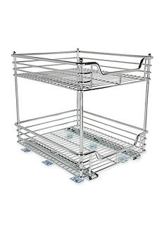 Glidez™ 14.5-in. Two Tier Sliding Organizer- Chrome Single Pack